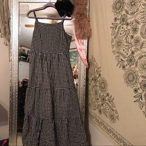 Old navy plaid maxi dress